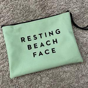 Resting Beach Face Make Up cosmetic Beach Bag